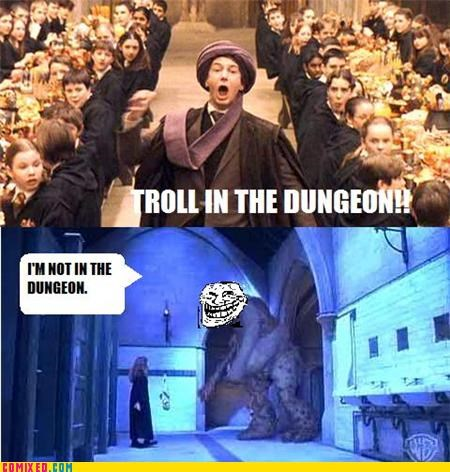 Harry Potter,hermione,troll in the dungeon,u mad