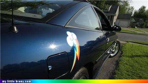 car,cutie mark,IRL,rainbow dash