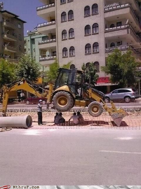 bulldozer construction outside shade - 4996766720