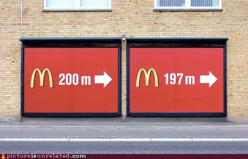 advertisement,distance,McDonald's,wtf