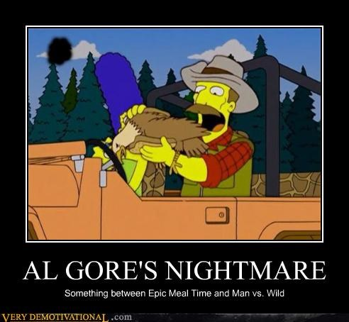 Al Gore,hilarious,nightmare,simpsons