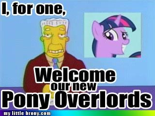overlords ponies rule the world simpsons twilight sparkle - 4997228800