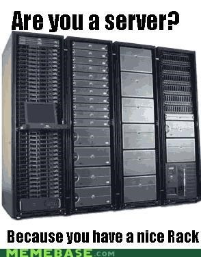 girls Memes pick-up lines rack server