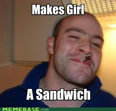 girl,Good Guy Greg,sandwich,sexism