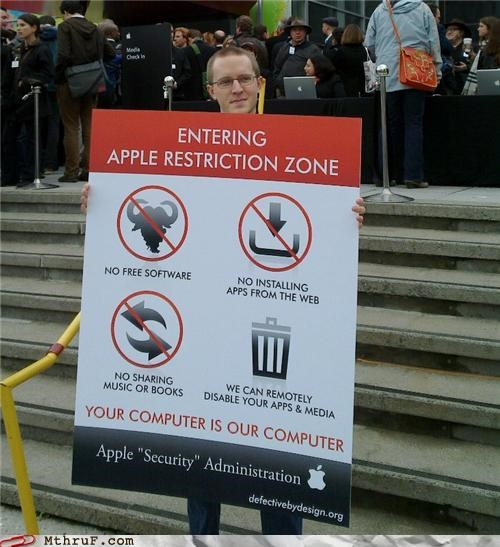 apple Protest security
