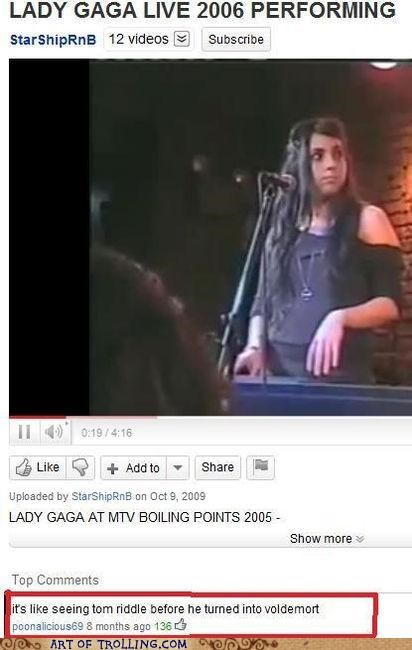Before They Were Famous,lady gaga,voldemort,youtube