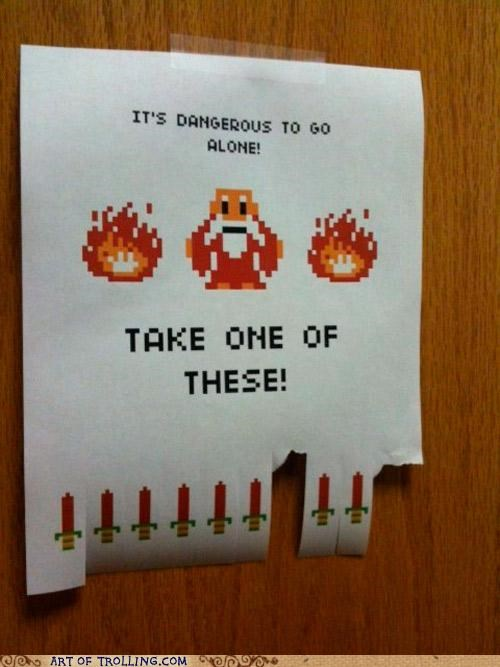 8 bit dangerous IRL sign take this - 4998069504
