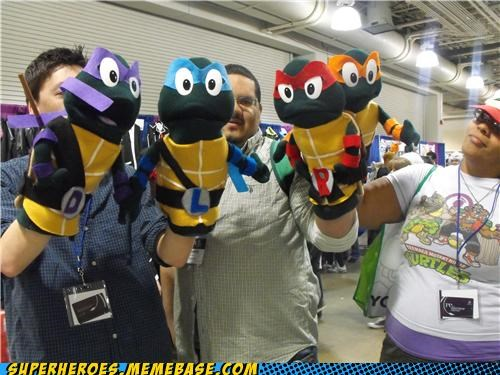 awesome,hand puppets,Random Heroics,SDCC,TMNT