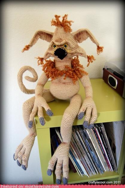 Amigurumi character Crocheted handmade Plush puppet salacious crumb star wars - 4998308352