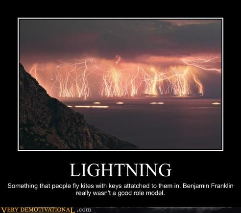 bad idea Benjamin Franklin hilarious lightening wtf - 4998311936