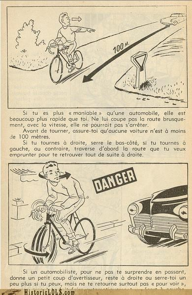 bicycle funny illustration kid pierre safety tips