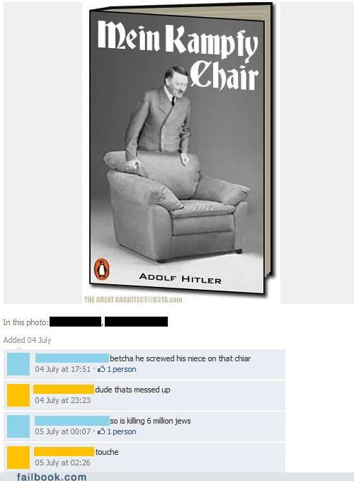 hitler,image,mein kampf,pun,thats-messed-up,witty reply