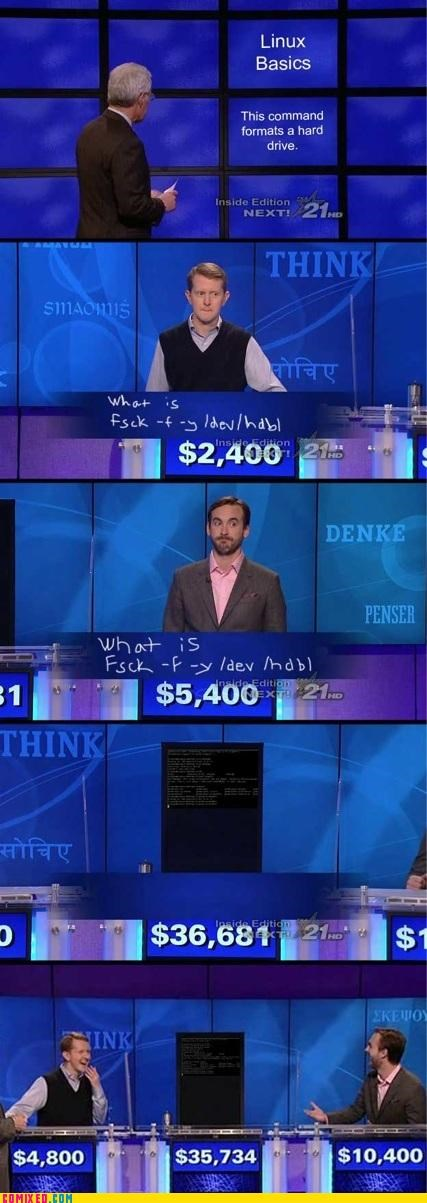 Command computer Jeopardy linux TV
