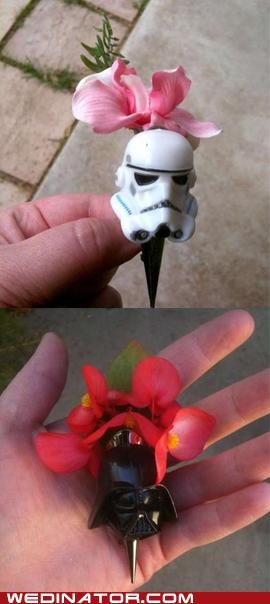 Boutonniere funny wedding photos geek Hall of Fame star wars - 4998985216