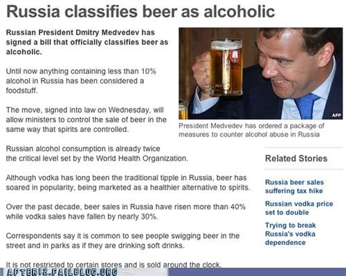alcoholic beer Breaking News russia wait what