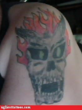 demon flame ghost rider skull