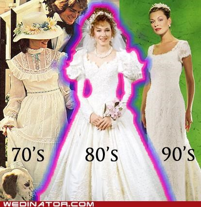 70s 80s 90s funny wedding photos Historical retro wedding dresses