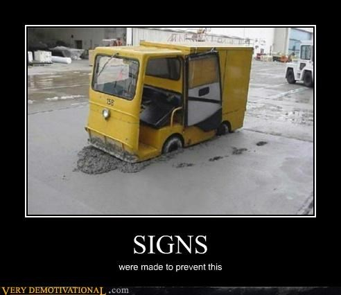 cement idiots signs truck - 4999374336