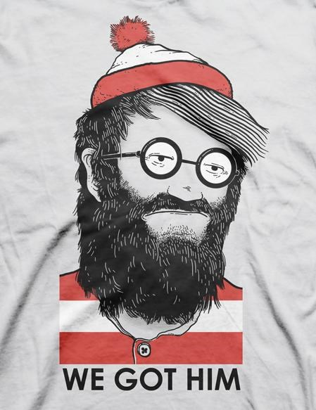 Nick Roberts theres-waldo Threadless Tee T-Shirt Design - 4999622912
