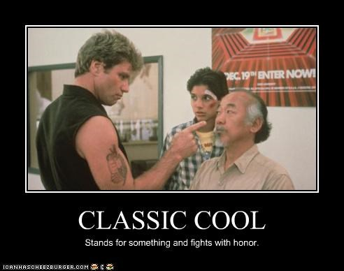 actor,celeb,demotivational,funny,Movie,pat morita,ralph macchio,the karate kid