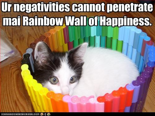best of the week caption captioned cat Cats fortress Hall of Fame happiness markers negativity rainbows