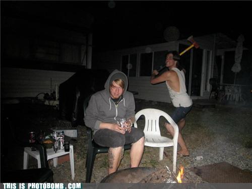 attack axe bonfire Impending Doom trailer park - 5000015872