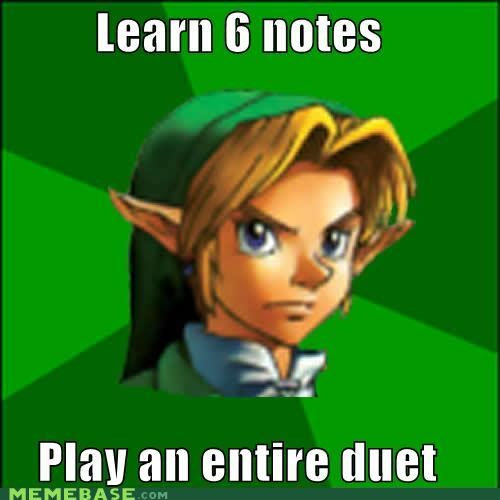 duet link Memes Music notes ocarina talent video games