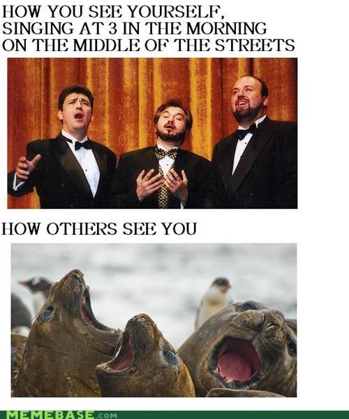 beatles drunk How People View Me morning people streets walrus - 5000132096