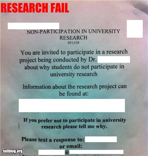 Research Study FAIL