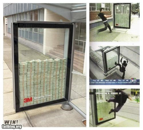 cash,Marketing Campaign,security glass