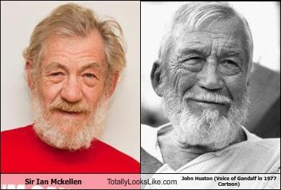 Sir Ian Mckellen Totally Looks Like John Huston (Voice of Gandalf in 1977 Cartoon)
