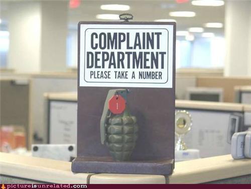 complaint grenade number wtf - 5001191680