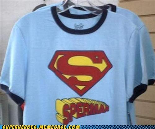 man milk Random Heroics superman T.Shirt wtf - 5001245952