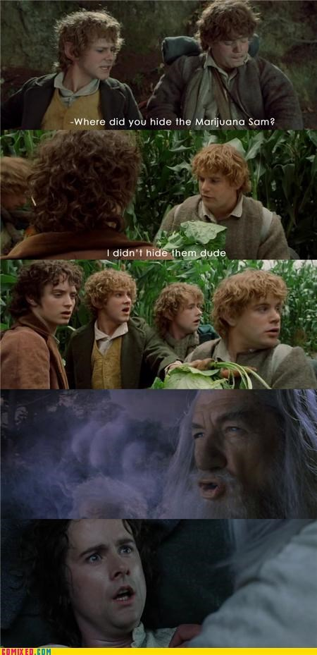 From the Movies gandalf Lord of the Rings marijuana - 5001366016
