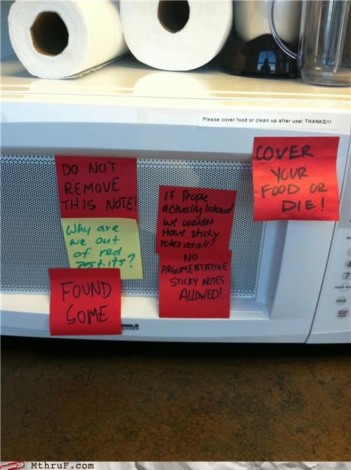 breakroom microwave post it sticky - 5001422336
