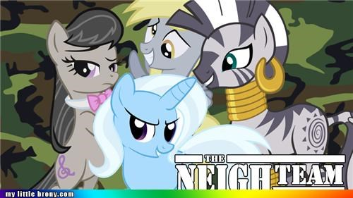 A Team,derpy hooves,neigh,zecora