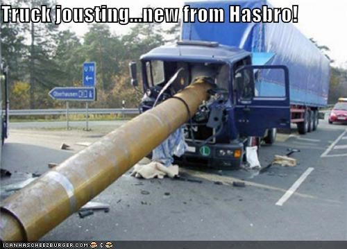 Truck jousting...new from Hasbro!