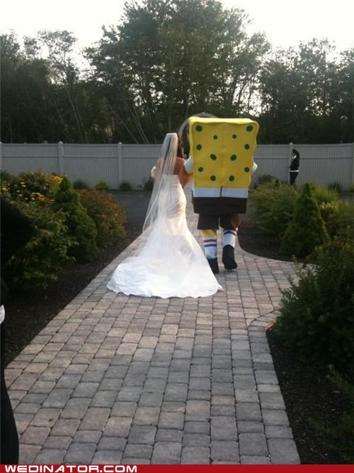 bride,funny wedding photos,SpongeBob SquarePants