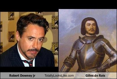 Robert Downey jr Totally Looks Like Gilles de Rais
