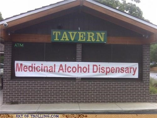 alcohol dispenser IRL medicinal tavern