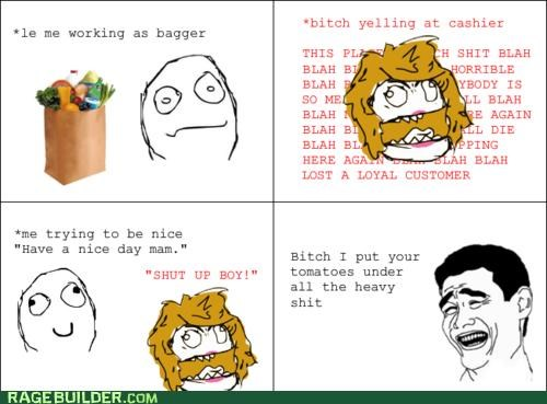 bag boy bagger groceries Rage Comics tomatoes - 5001904384