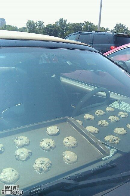 car cookies food Hall of Fame heat wave hot summertime weather