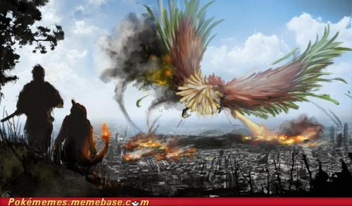 attack,city,fire,ho-oh