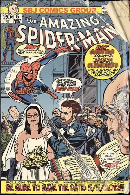 comics,save the date,Spider-Man,wedding