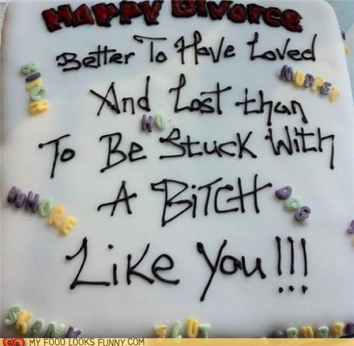 angry bitter cake divorce Party unhappy - 5002307840