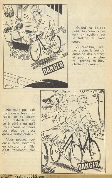 cycling,french,funny,illustration,safety tips
