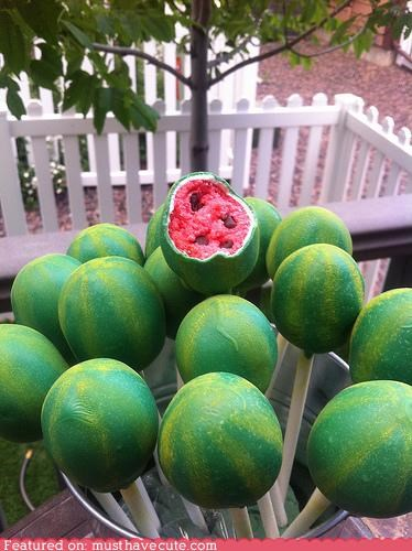 cake pops epicute hot snack summer watermelon