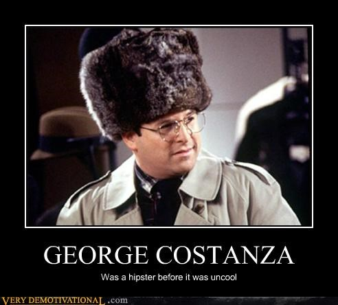 george costanza,hat,hilarious,hipsters