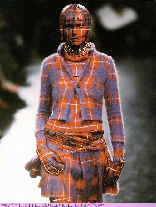 cool accessories plaid runway undercover - 5002521856