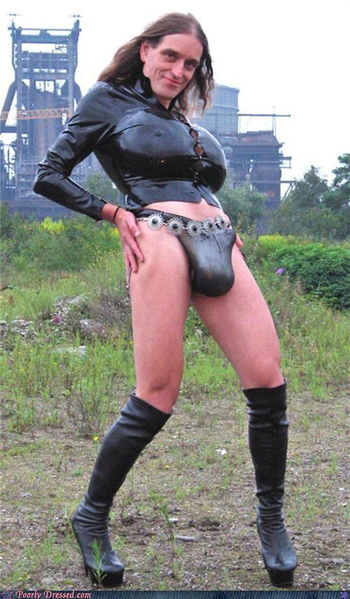 crossdressing leather transsexual underwear